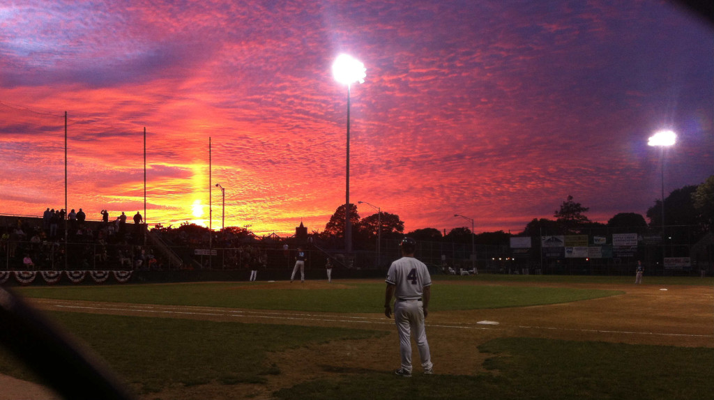 Sunset at Cardines Field in Newport, Rhode Island